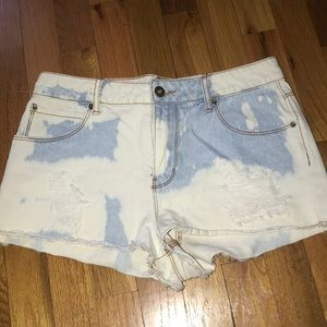 Forever 21 bleached denim shorts
